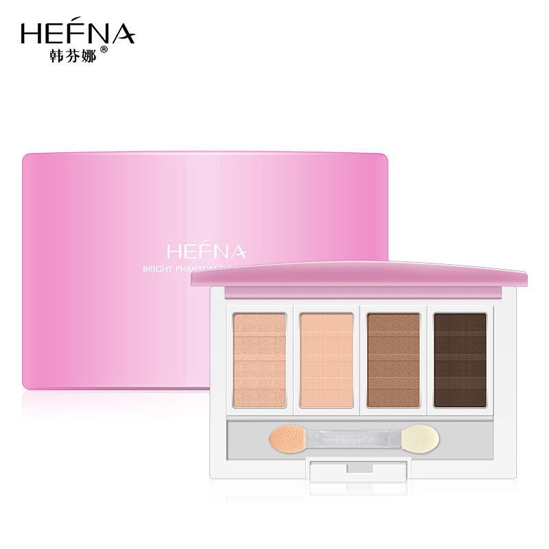 Han fenna bright hyun shadow four color eye shadow smoky makeup earth colors lasting not blooming waterproof genuine