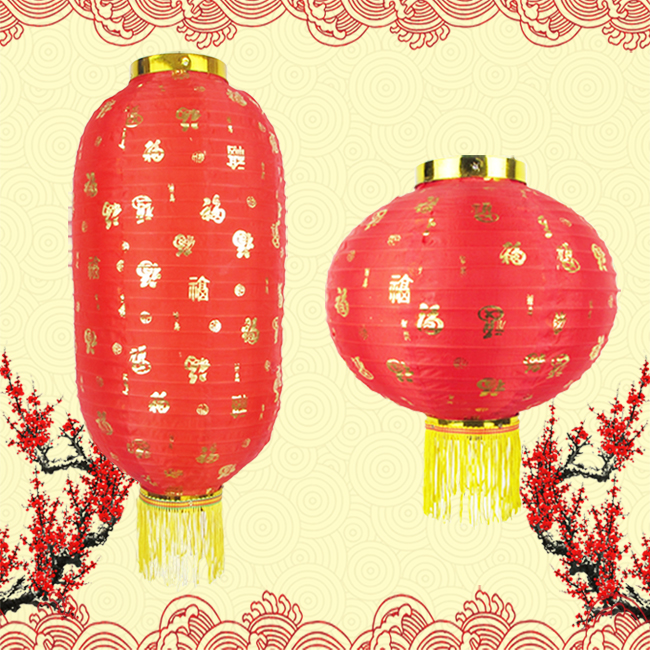 Han tang bedford round melon lantern lantern red lanterns decorated holiday advertising folding lantern dance dance lamp cage
