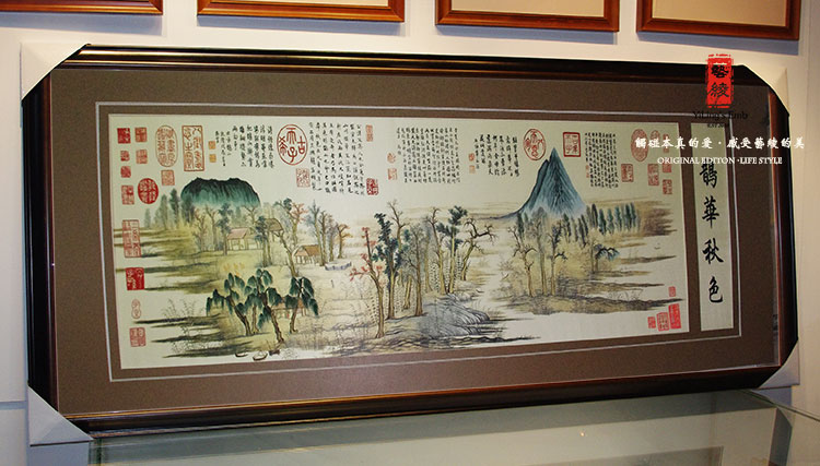 Handmade silk embroidery art suzhou embroidery hand embroidery chinese style decorative painting the living room landscape paintings framed landscape painting