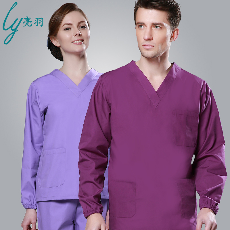 Handwashing clothes short sleeve for men and women long sleeve cotton gowns doctor operating room gowns hand clothes brush hand special offer free shipping