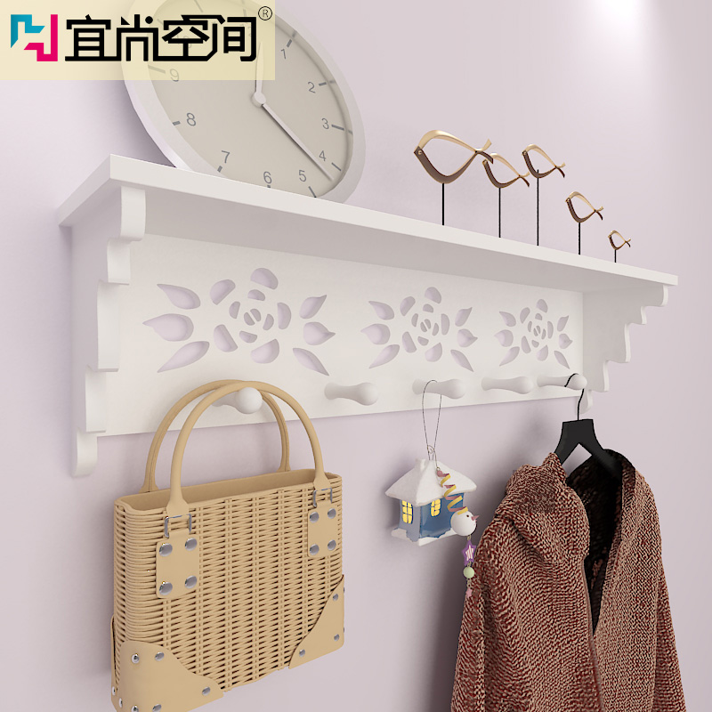 Hanging behind the door coat hook wall coat rack shelving racks decorative frame carved wall hanging racks for hanging clothes drying rack