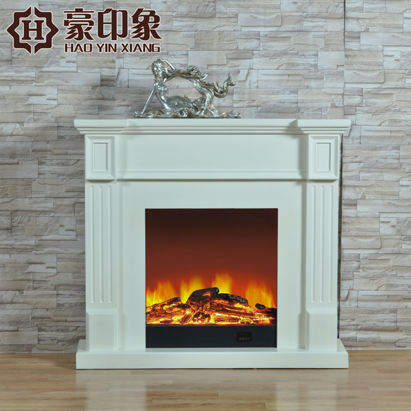 Hao impression continental fireplace decoration cabinet 1.2 m white minimalist atmosphere of american wood fireplace electric fireplace mantel