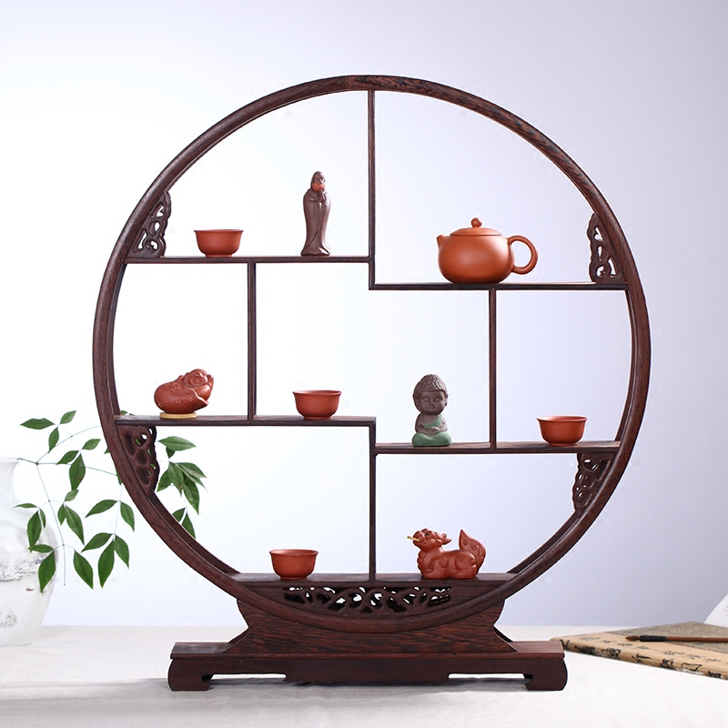 Hao lin xuan wenge round square 10 august 1999 frame plum begonia dubbo curio shelf ornaments storage