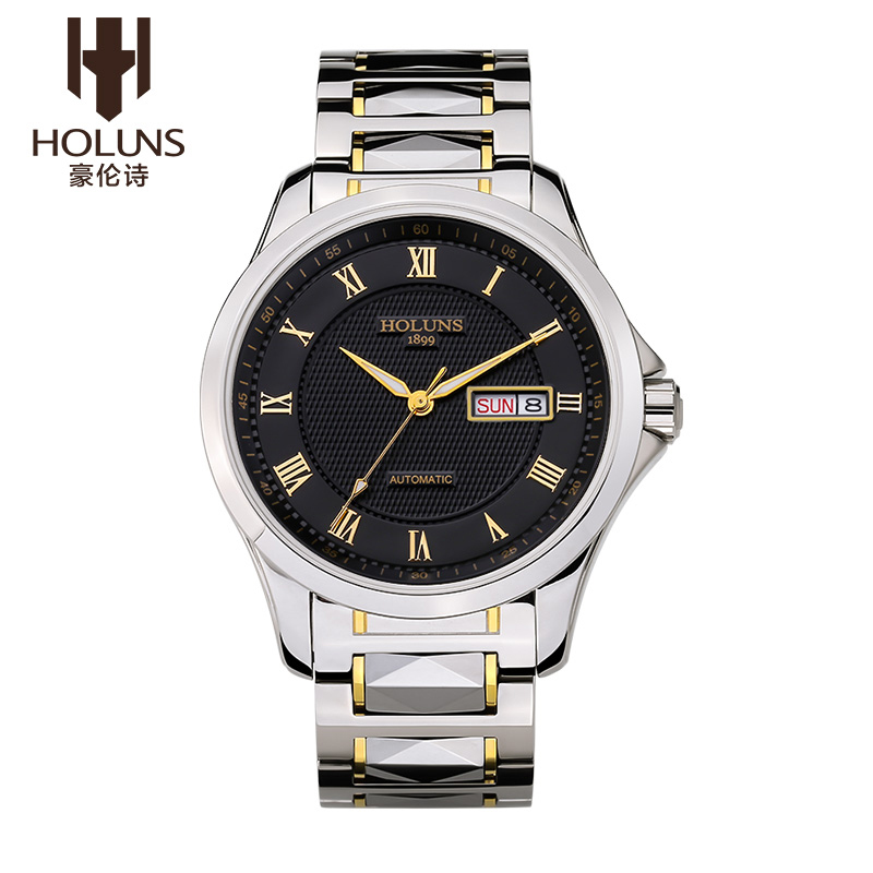 Hao lun poetry genuine automatic mechanical watch men watch men waterproof stainless steel table with leisure and business fashion table