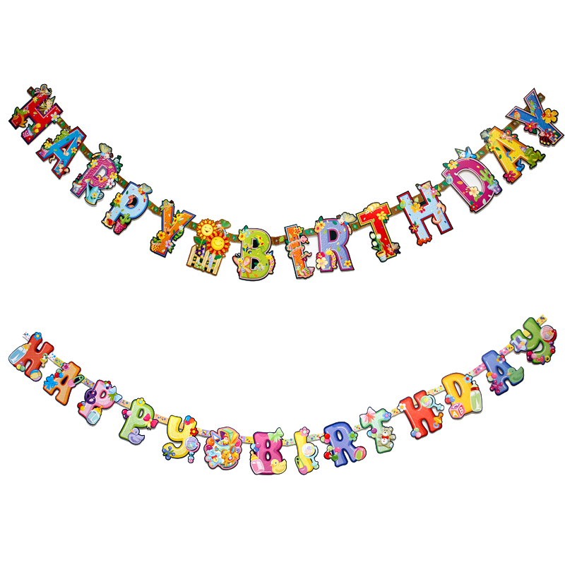 get quotations happy birthday letter banner banners bunting site layout birthday party party decoration supplies