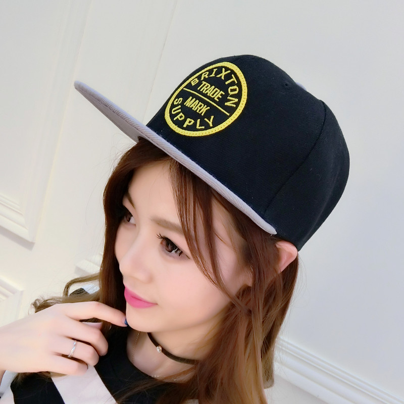Hat female korean tidal cap hip-hop hip-hop cap baseball cap leisure shopping male spring and summer embroidered flat brimmed hat