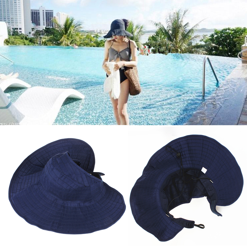 Hat female summer casual korean version of folding curly wild sun hat uv empty top hat visor bumao