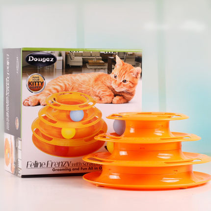 Hate li pet cat toy mouse shadowless turnplate pebbling thanmonolingualsat orbit of cat scratch cat bowls cat amusement turnplate Plate