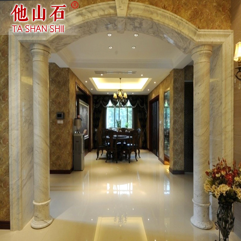 [He mountain stone] continental bedroom living room marble door yakou roman decorative lines can be customized to map processing
