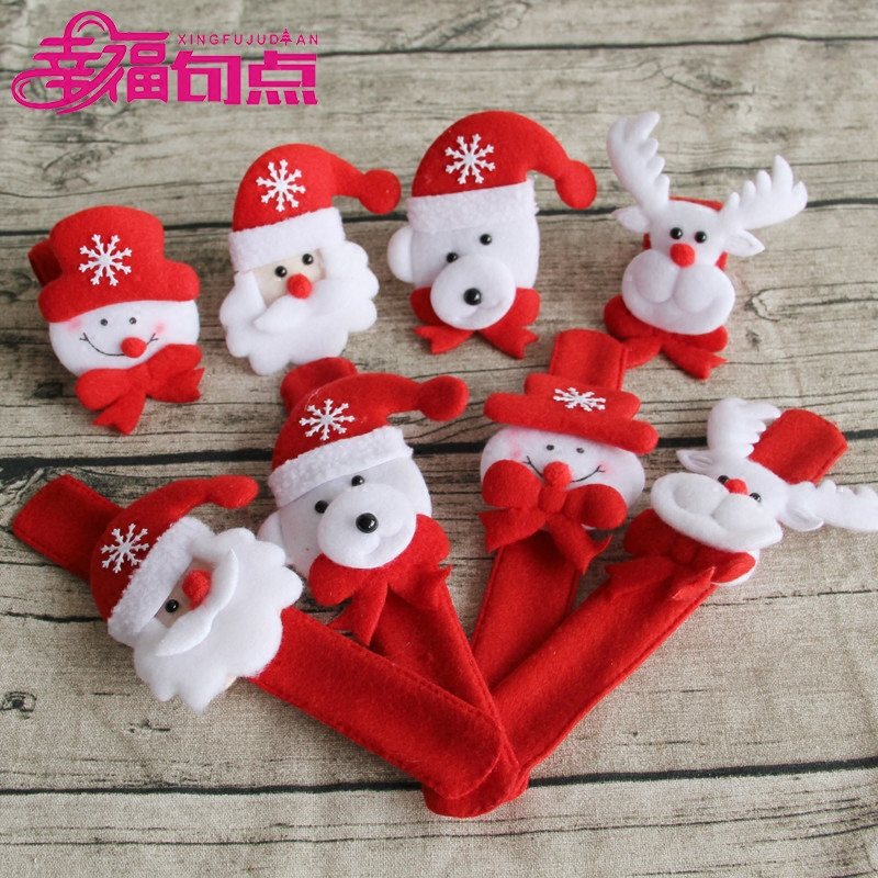 Headband christmas decorations christmas gifts christmas pat circle wrist bracelet handcuff bracelet children