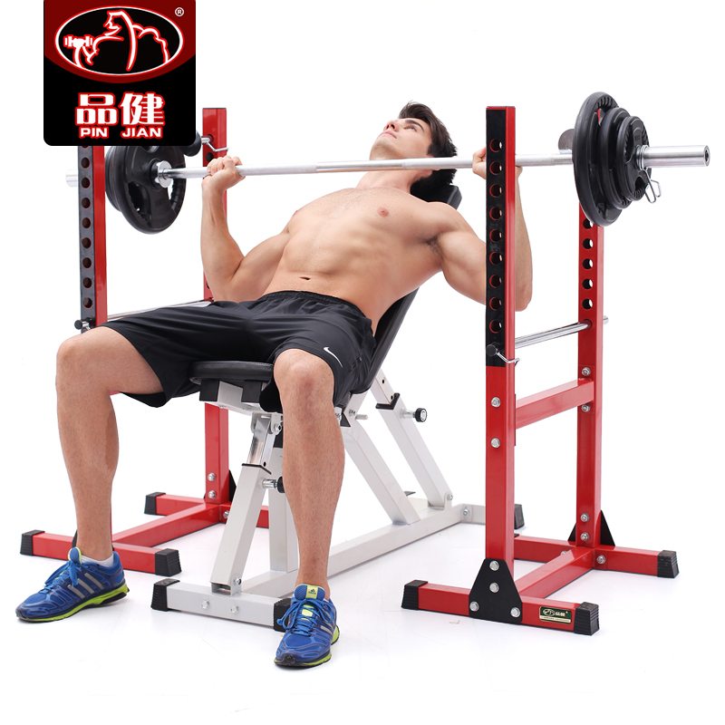 Health products professional split squat rack weightlifting bed bench press rack multifunction men home dumbbell bench barbell suit