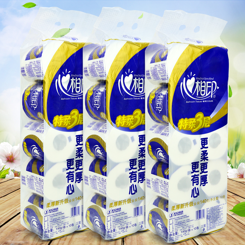 Hearttex special soft toilet tissue roll 3 layer roll 140gx10/mention mention bt910 x_3