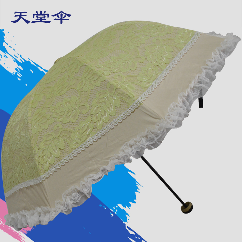 Heaven umbrella lace parasol umbrella princess vinyl umbrellas uv sunscreen parasol umbrella folding umbrella embroidery female