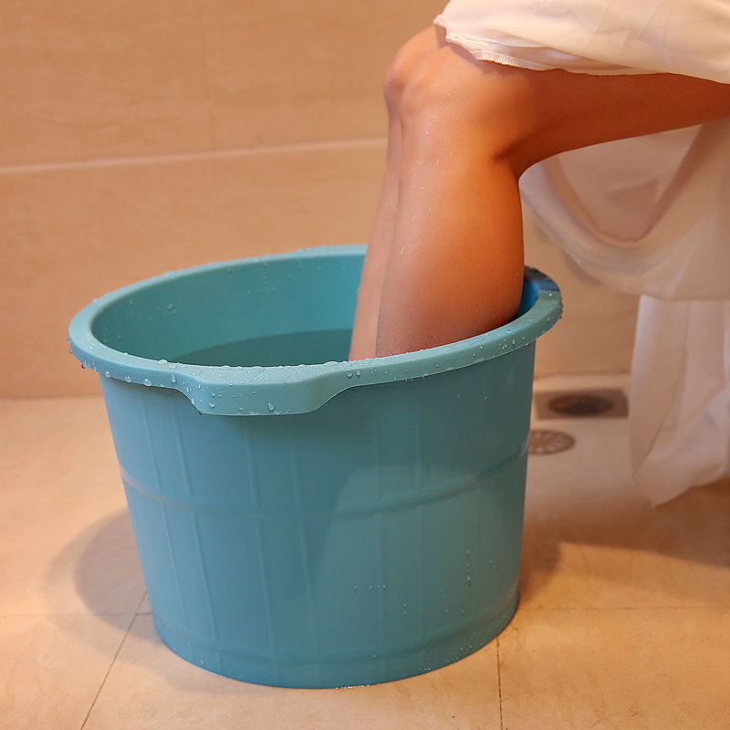 Heightening thickened deepen plastic wood particles bottom massage feet foot tub barrel feet feet foot barrel