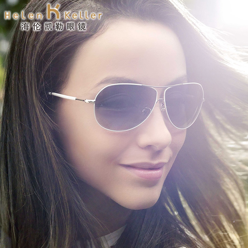 Helen keller sunglasses little face minimalist female round sun mirror sunglasses polarized driving sunglasses yurt driving mirror tide