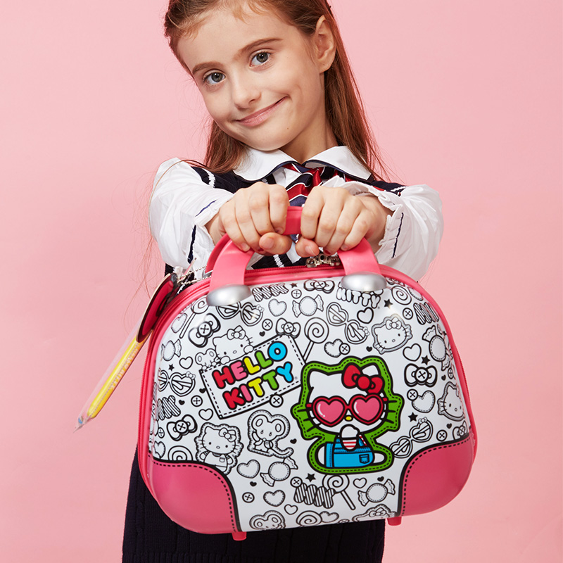 Hello kitty children girls fashion bag children bag princess bag handbag korean version of graffiti cartoon cute