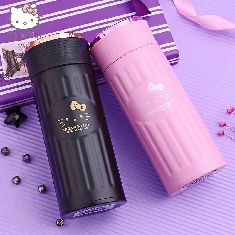 Hello kitty children's cups baby drinking cups leakproof stainless steel mug cup portable kettle girls