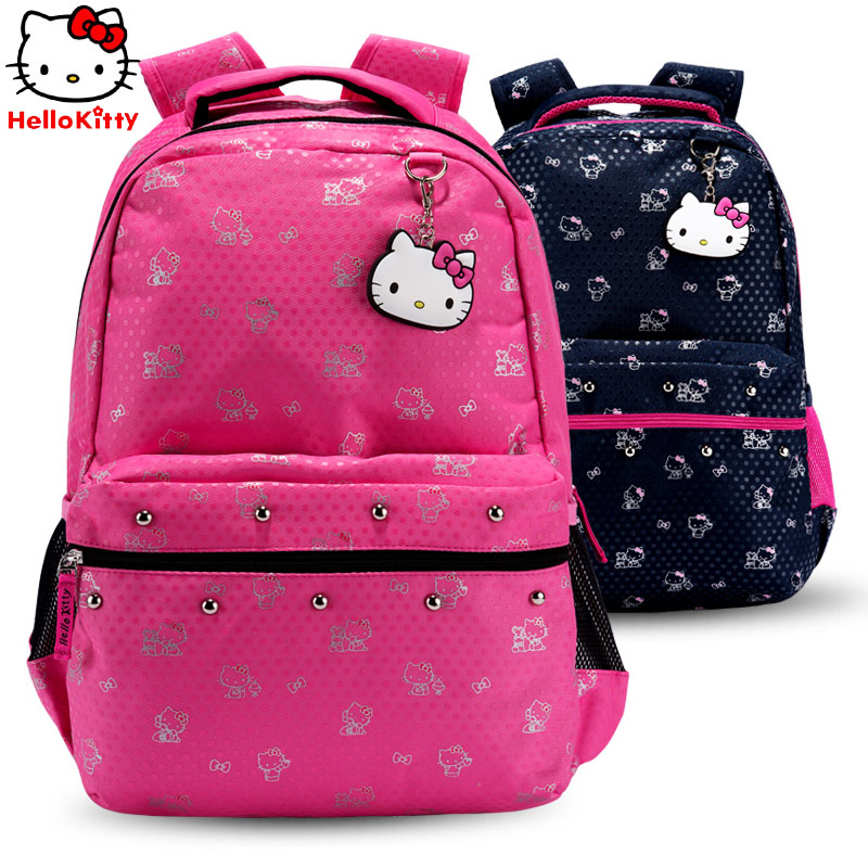 00e94a073 Get Quotations · Hello kitty hello kitty children's school bags primary  grades junior high school girls leisure backpack female