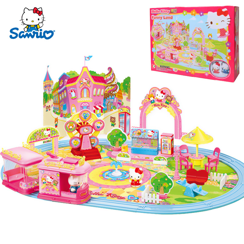 77a96f64ee89 Get Quotations · Hello kitty hello kitty corner story fun park girls play  house toys for children role play