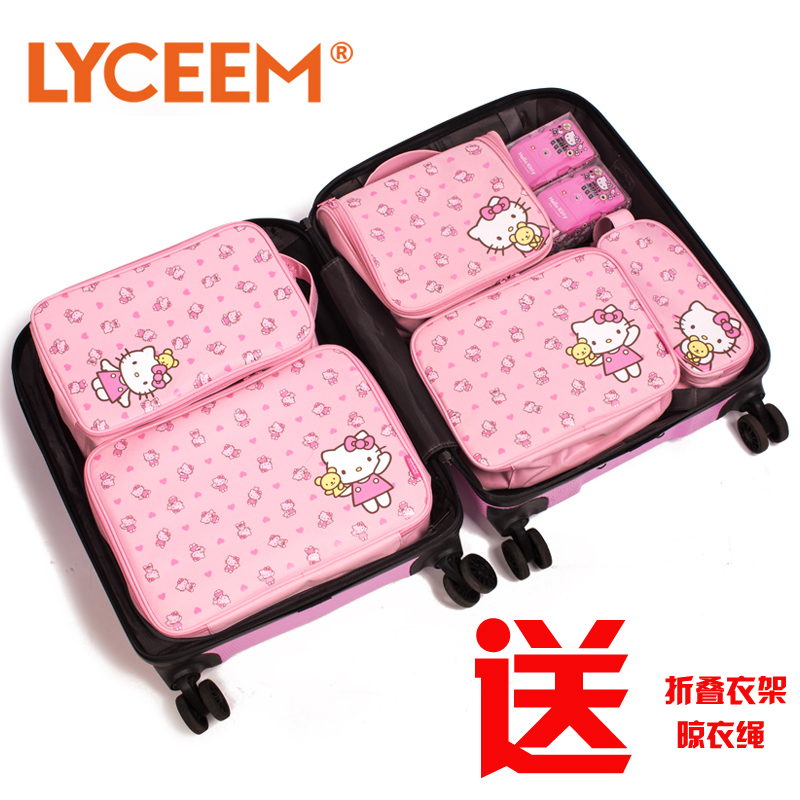 302891676bd9 Get Quotations · Hello kitty hello kitty cute cosmetic bag travel toiletry  kits suit female admission package travel outdoor