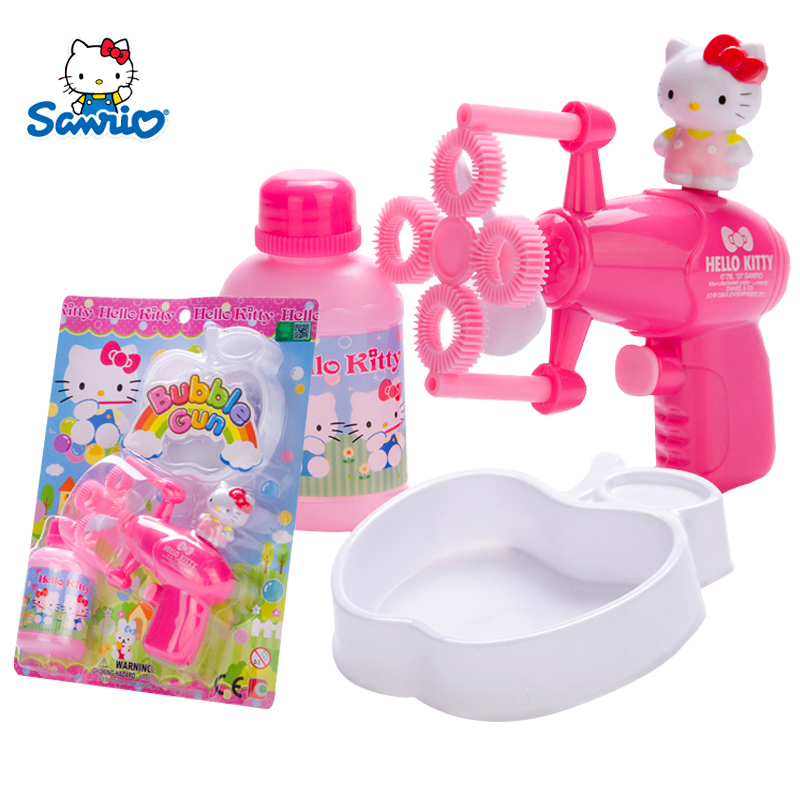 Hello kitty hello kitty kt-50008 electric bubble gun toys for children blowing bubbles outdoors popgun