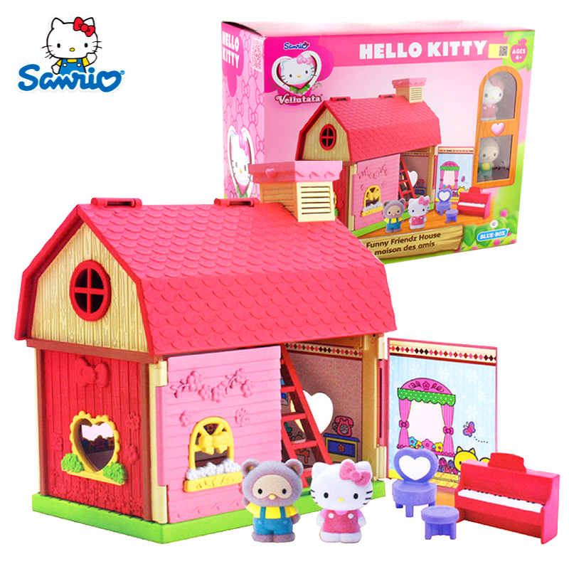 f53219380f35 Hello kitty hello kitty toys flocking series of fun hut girls play house  toys for children