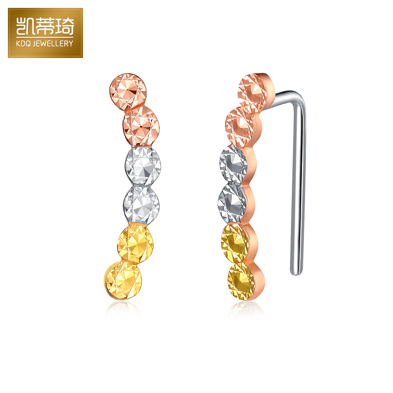 Hello kitty kay jewelry k gold earrings platinum earrings female fashion color gold ear ear row row stars paragraph