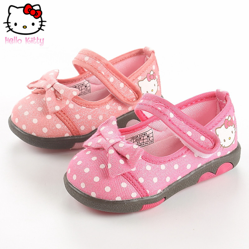 Hello kitty shoes shallow mouth of the spring and autumn children casual shoes canvas shoes single shoes princess shoes B31753