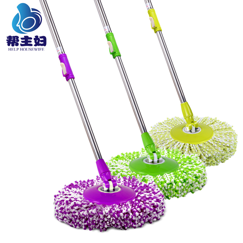 Help housewife universal rotating mop mop rod hand pressure mop bucket mop mop pole with lever drag bucket to replace the mop accessories