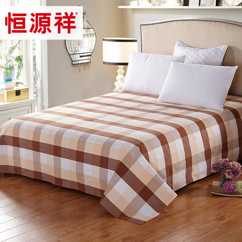 Heng yuan xiang textile cotton plaid cotton linen cotton linens old coarse thick double single student