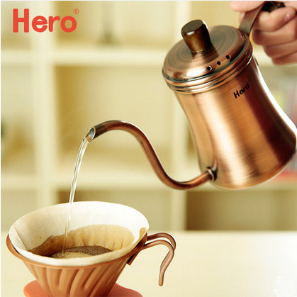 Hero hand fine mouth pot coffee maker elegant 700 ml household stainless steel fine mouth pot coffee hand Punch pot