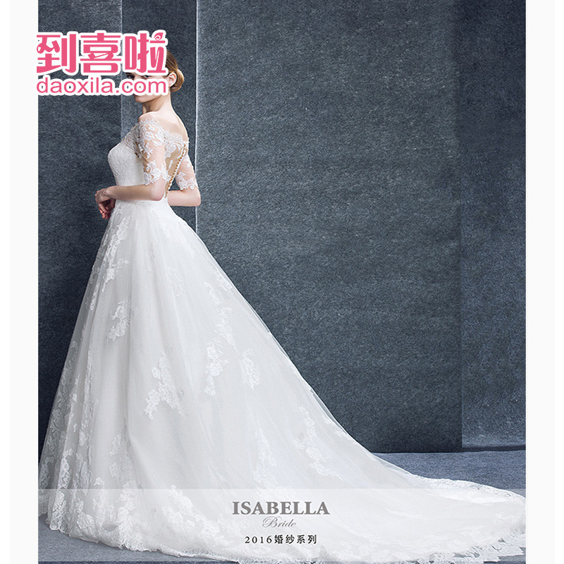 Hi friends of the shanghai isabellabride elegant luxury big lace bridal wedding yarn wedding dress trailing