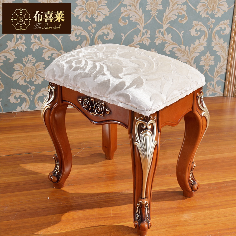 Hi levin cloth continental furniture american oak carved wood vanity benches makeup stool stool changing his shoes small stool bedroom