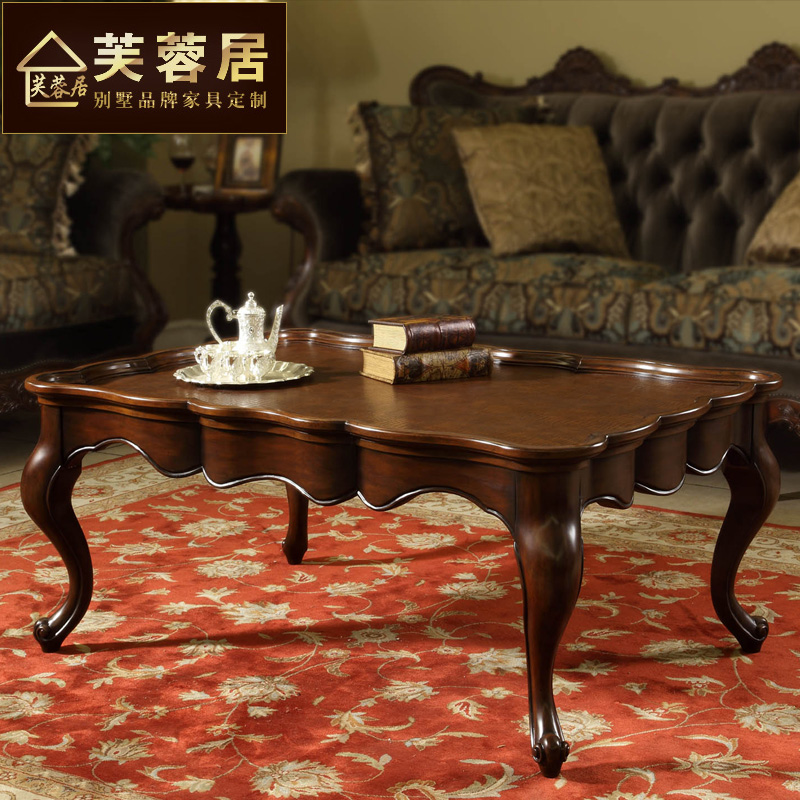 Hibiscus habitat european american wood coffee table rustic villa living room furniture retro coffee table tea table coffee table coffee table