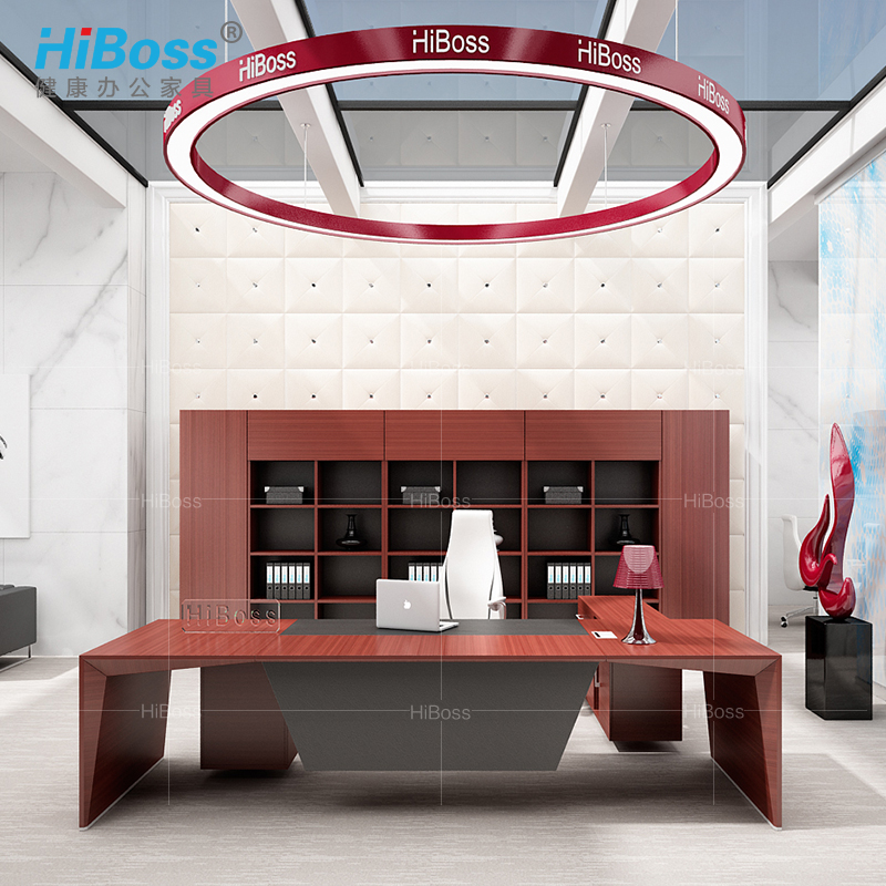 [Hiboss] female fashion boss desk desk desk ceo modern home office desk with the chairman of the board