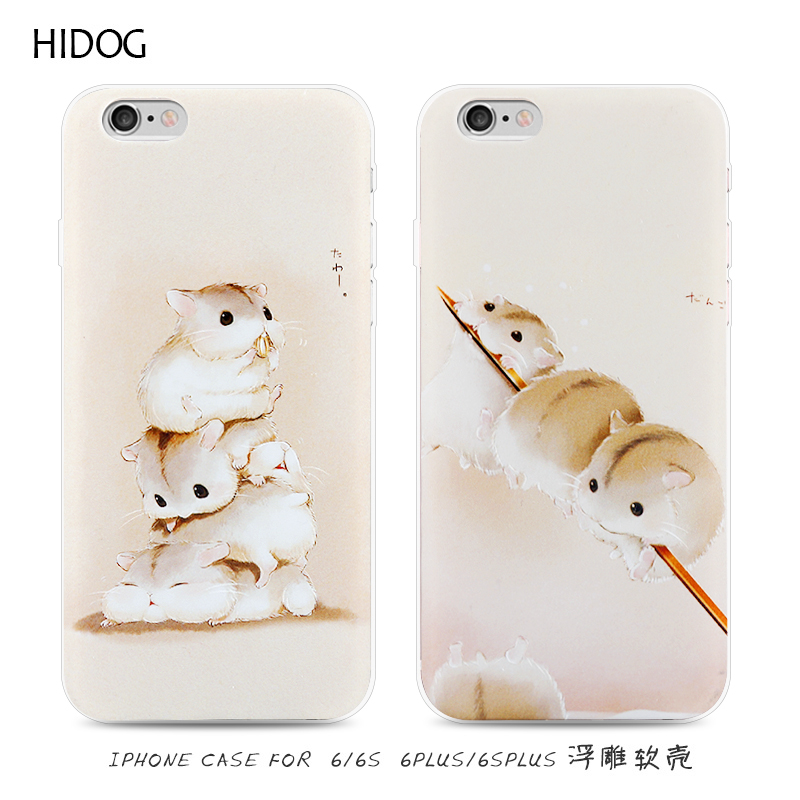 Hidog iphone6 apple phone shell 4.7 japan and south korea cartoon cute cricetulus s protective sleeve soft silicone new