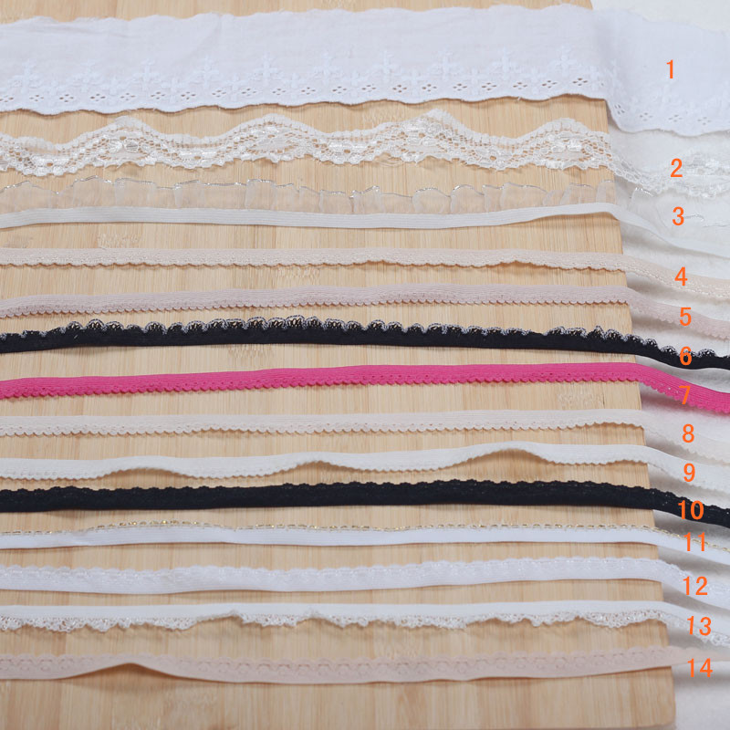 High elastic spandex elastic strap lace diy handmade lace garment accessories elastic rubber band