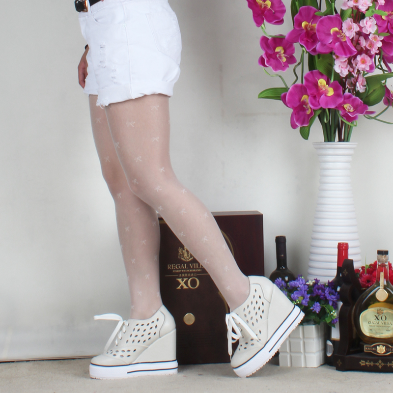 High puffy amiyumi authentic 2016 summer in europe and america hollow lace shoes breathable shoes to help low shoes slope with a solid color