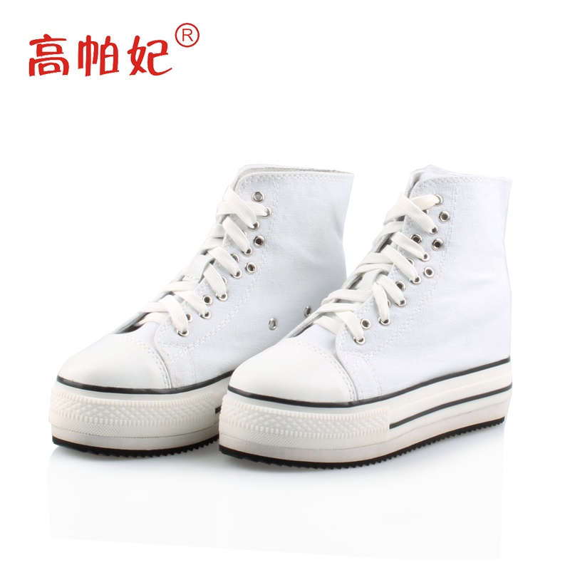 High puffy amiyumi authentic summer casual canvas shoes within the thick crust increased high shoes lace candy colored rhinestones students