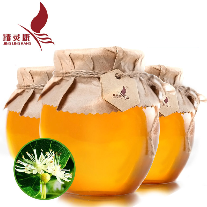 High quality collection of wild black bee honey farm elf kang [linden] honey 3 bottles free shipping