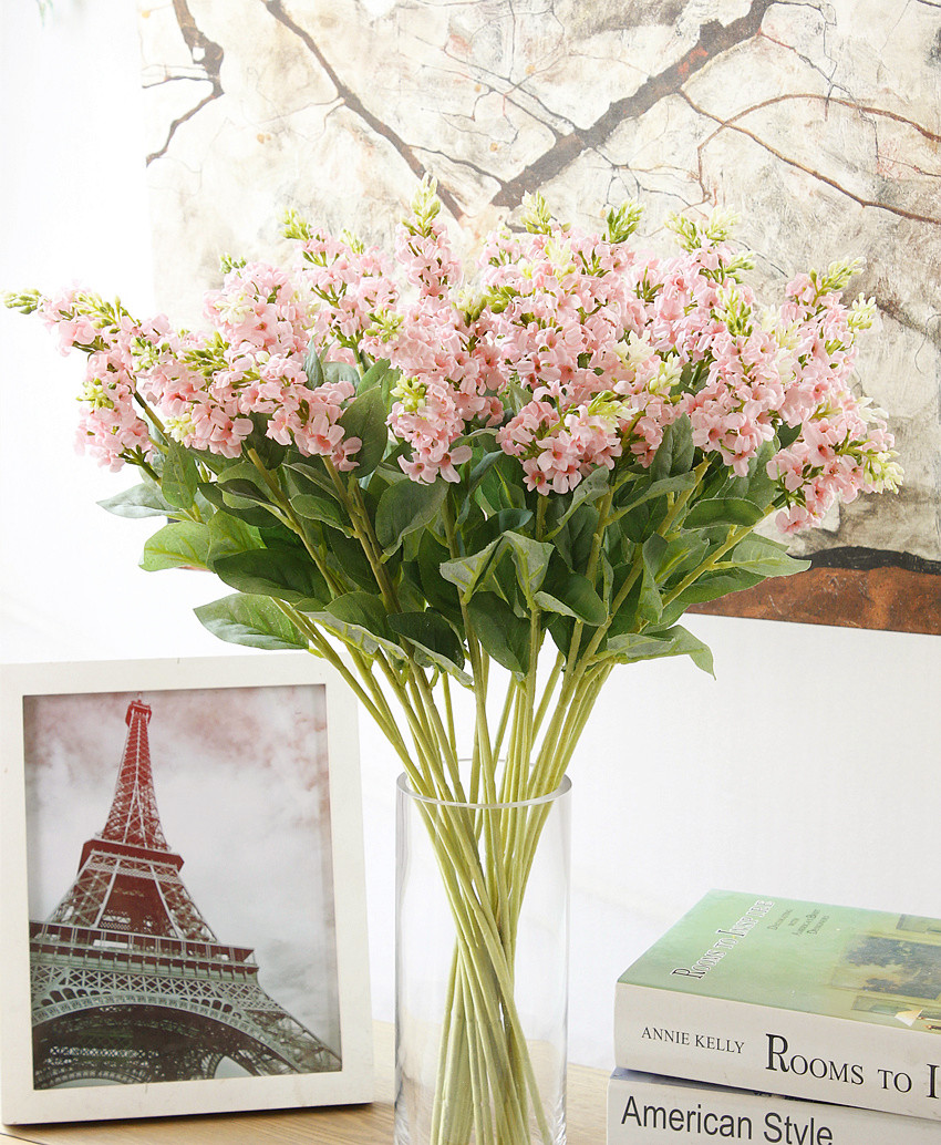 Buy High Simulation Fake Flowers Home Decor Living Room Ornaments Decorations Potted Flower Lavender Floral Single Branch In Cheap Price On Alibaba Com
