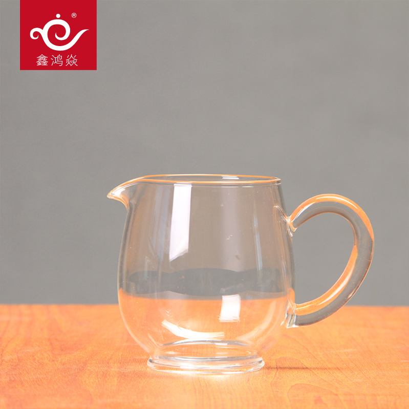 High temperature resistant glass fair cup kung fu tea sub sea tea cup thick glass can be heated