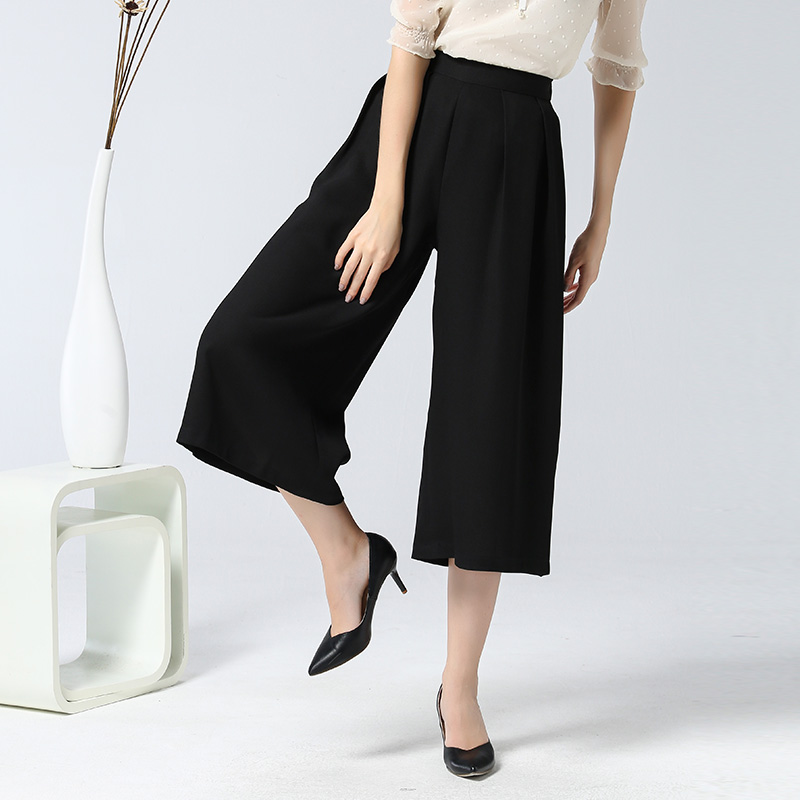High waist pants thrown wide leg pants straight jeans korean version of spring and summer women was thin pant women pants casual pants loose big yards