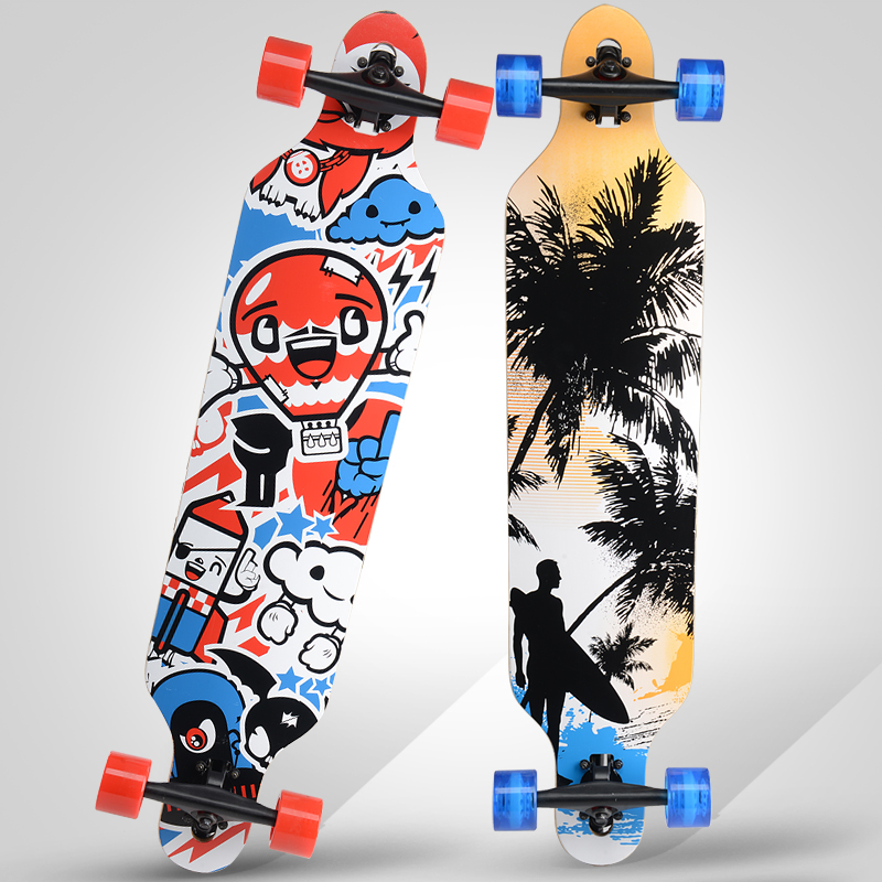 Highway longboard skateboard professional skateboarding skateboard skateboard adult dance board brush street scooter downhill board