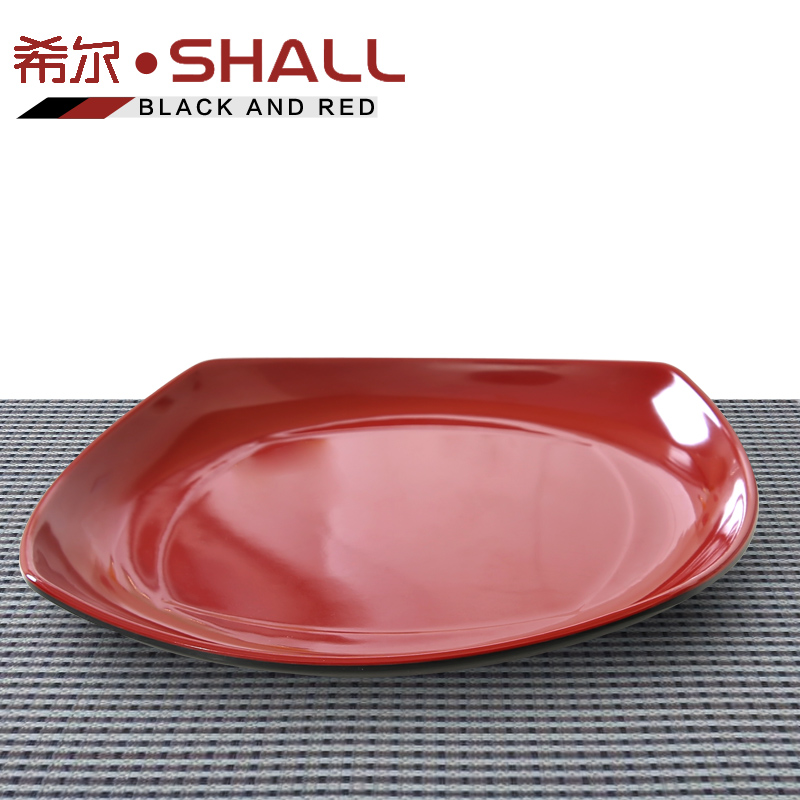 Get Quotations · Hill melamine plate shatterproof melamine melamine tableware black and red chinese dish dish flat plate restaurant  sc 1 st  Shopping Guide - Alibaba & China Kids Melamine Tableware China Kids Melamine Tableware ...