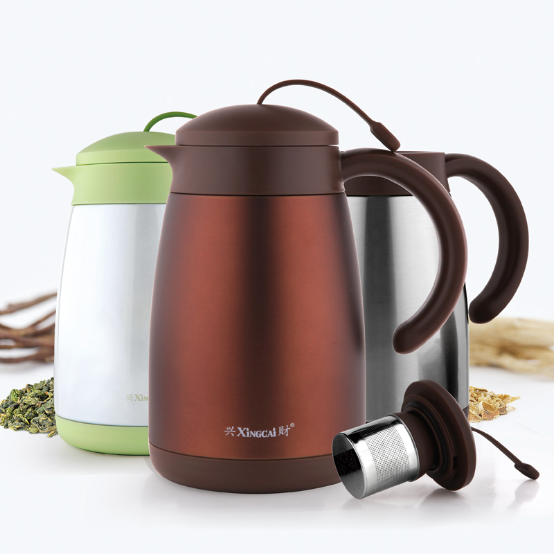 Hing choi 304 stainless steel thermos conditioning filter flower pot large capacity teapot tea kettle 1.0l