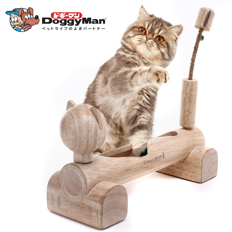 Hitting the ball more diffuse wooden cat toy pet toy cat funny cat funny cat toy cat climbing frame cat tree climbing shipping