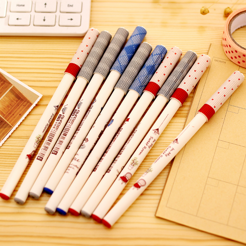 Hobbies stationery carbon pen gel pen 0.35/0.5 black pen pen student office stationery 12 installed