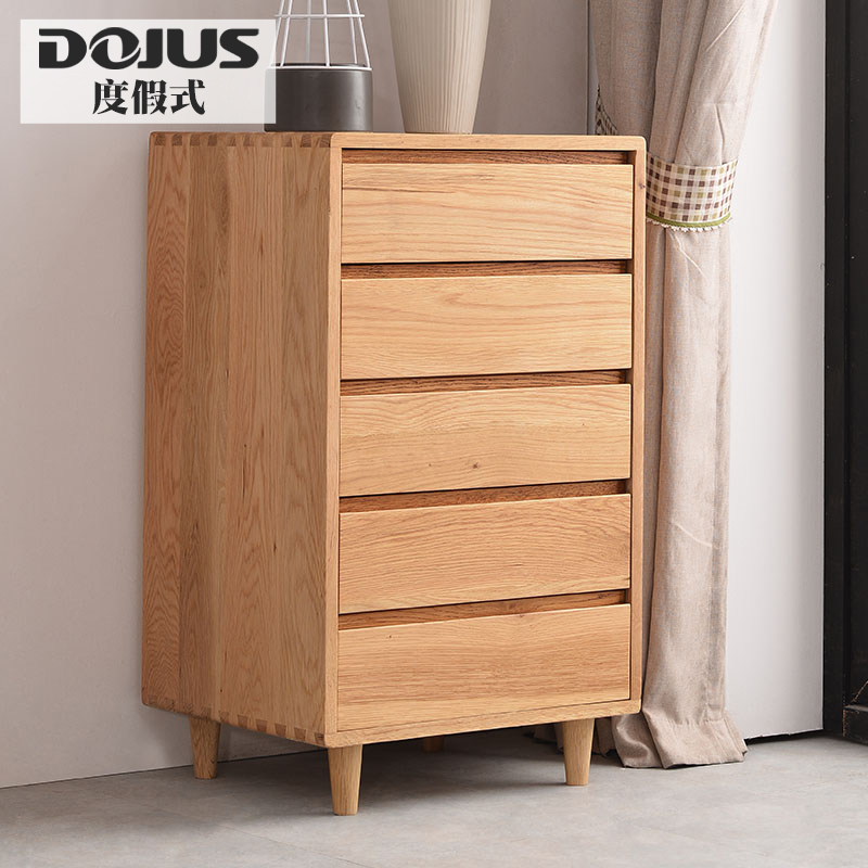 Holiday style all solid wood nordic oak wood chest of drawers drawer storage cabinets baby wardrobe lockers d200