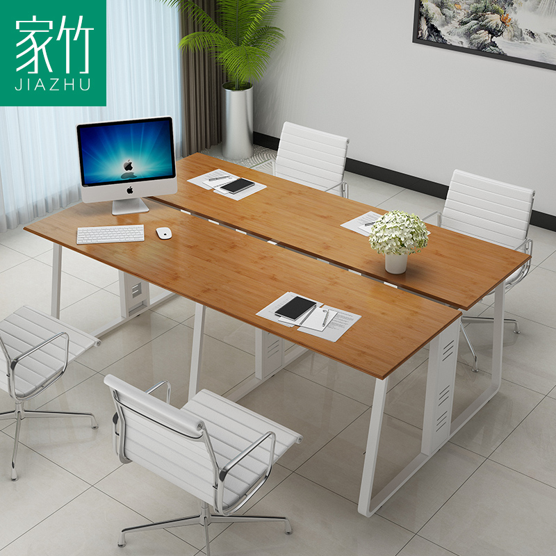 Get Quotations · Home Bamboo Bamboo Desk Company Computer Desk Modern  Minimalist Four Units Of The Office To Discuss